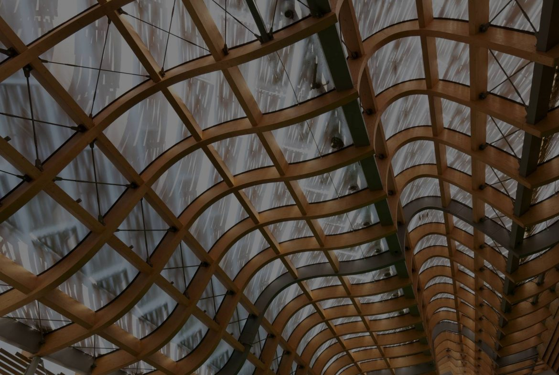 Diseño 3D estructura moderna techo madera - SGH Formación