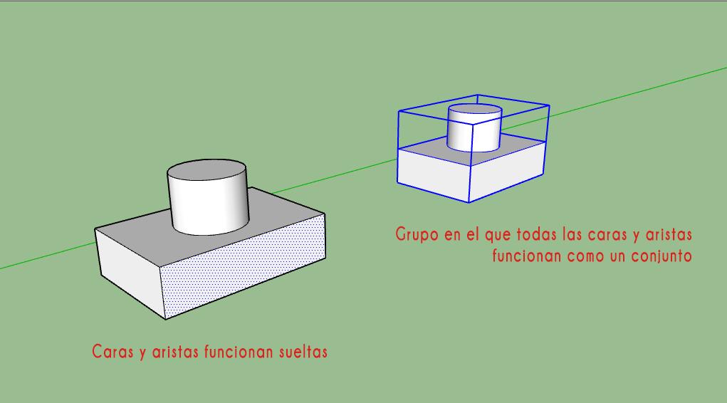 Trucos para SketchUp. Uso de los grupos y componentes